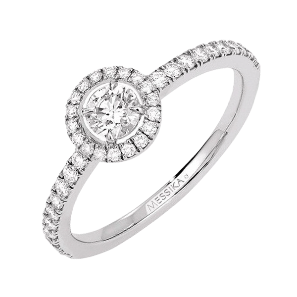 Bague Messika Joy en or blanc et diamant rond 0,25 carat