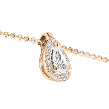 Collier Lepage Marceau en or rose diamants