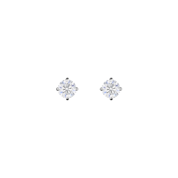 Boucles d'oreilles Evidence en or blanc diamants