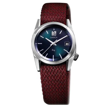 Montre March LA.B Sixty 9 Electric bracelet NATO Perlon Rouge 32 mm