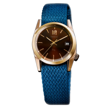 Montre March LA.B Sixty 7 Electric bracelet NATO Perlon Azur 32 mm