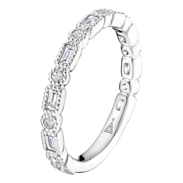 Alliance Lepage Joséphine en or blanc et diamants