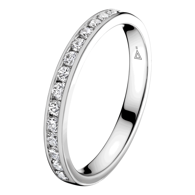 Alliance Lepage Romance en or blanc et diamants