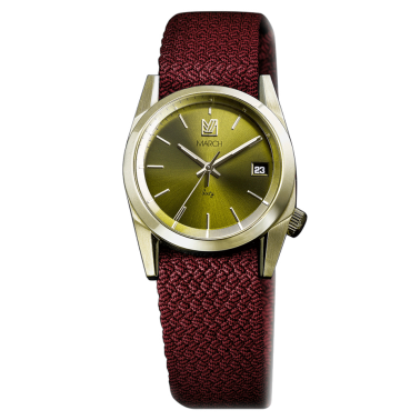 Montre March LA.B Sixty 8 Electric bracelet NATO Perlon Rouge 32 mm