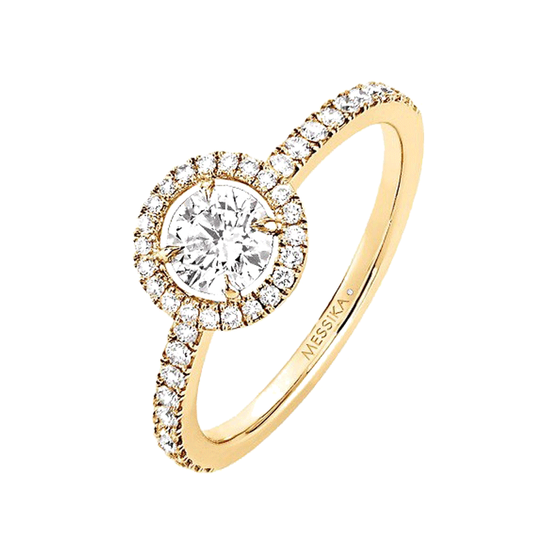 Bague Messika Joy en or jaune et diamant rond 0,45 carat