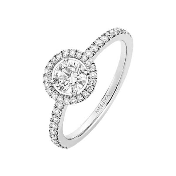 Bague Messika Joy en or blanc et diamant rond 0,45 carat