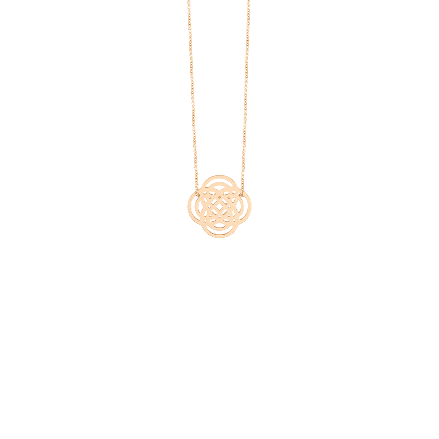 Collier Mini Purity On Chain en or rose Ginette NY, colliers - Lepage