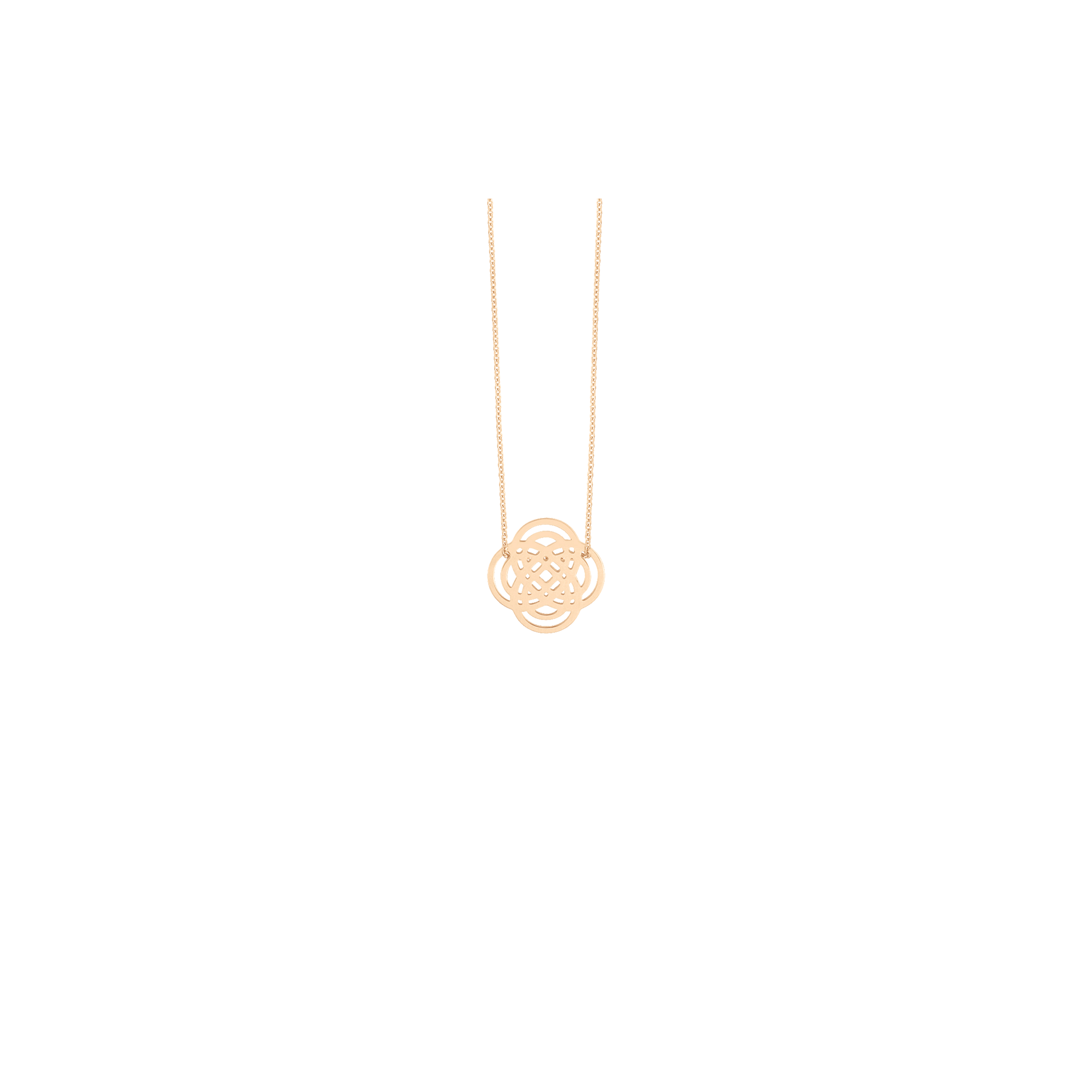 Collier Ginette NY Mini Purity On Chain en or rose - Soldat