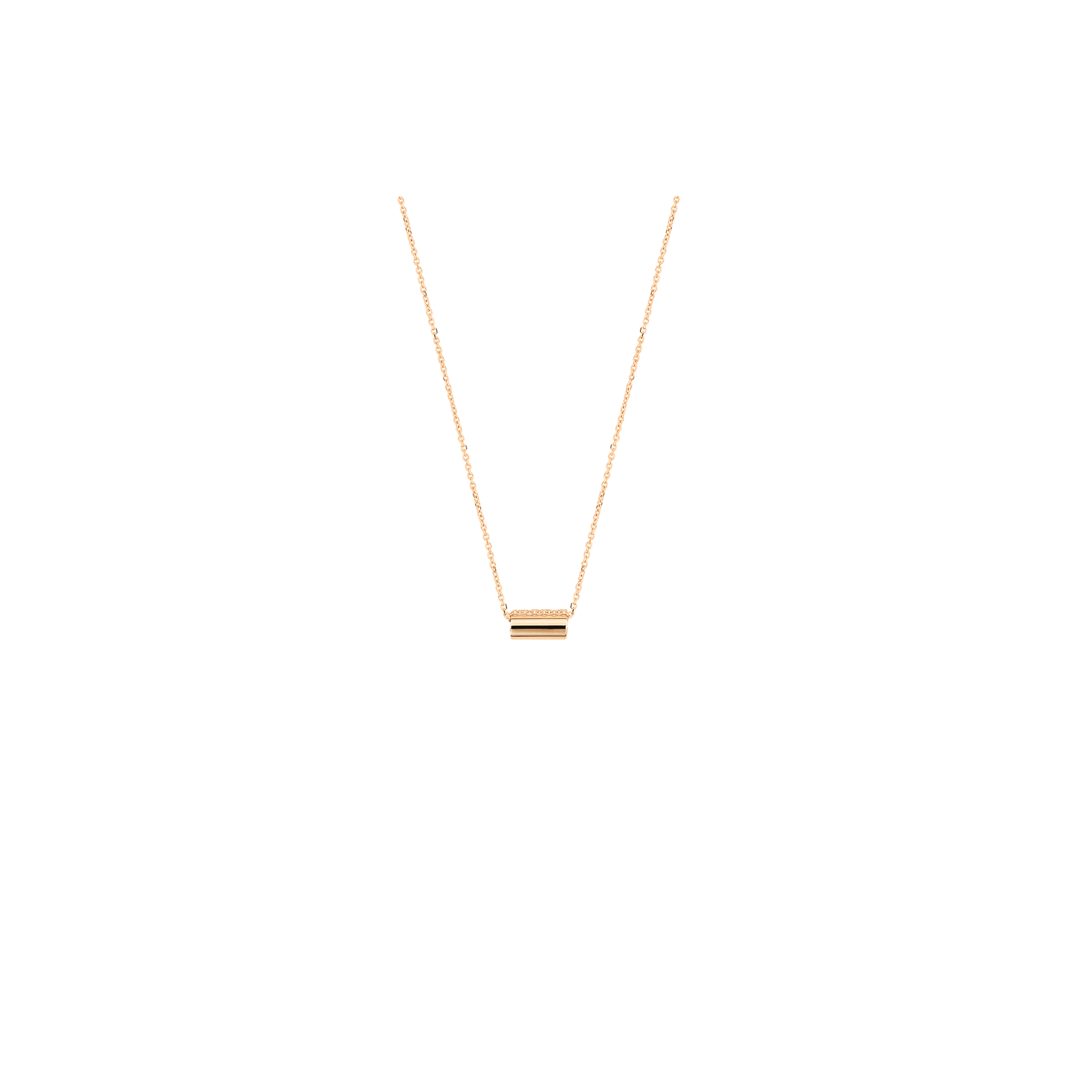 Collier Ginette NY Mini Straw en or rose