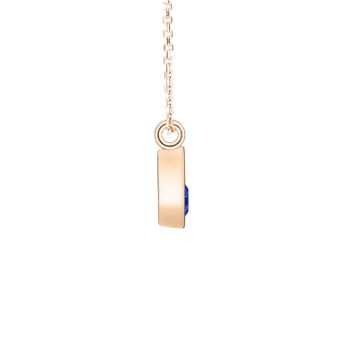 Collier Lepage Clyde en or rose et saphir