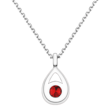 Collier Lepage Clyde en or blanc et rubis