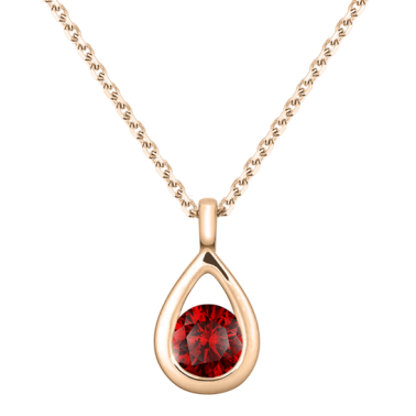 Collier Lepage Clyde en or rose et rubis