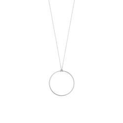 Collier Ginette NY Baby Circle en or blanc - Soldat