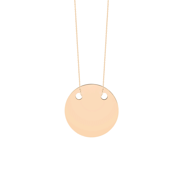 Collier Ginette NY Baby Disc On Chain en or rose - Soldat