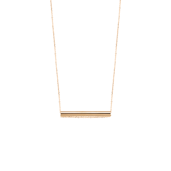 Collier Ginette NY Straw en or rose