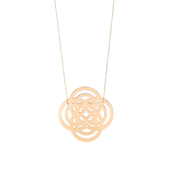 Collier Ginette NY Purity On Chain en or rose