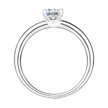 Solitaire Evidence Lepage Evidence en or blanc diamant brillant - Front