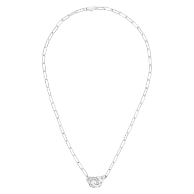 Collier Dinh Van Menottes R10 en or blanc et diamants - FULL