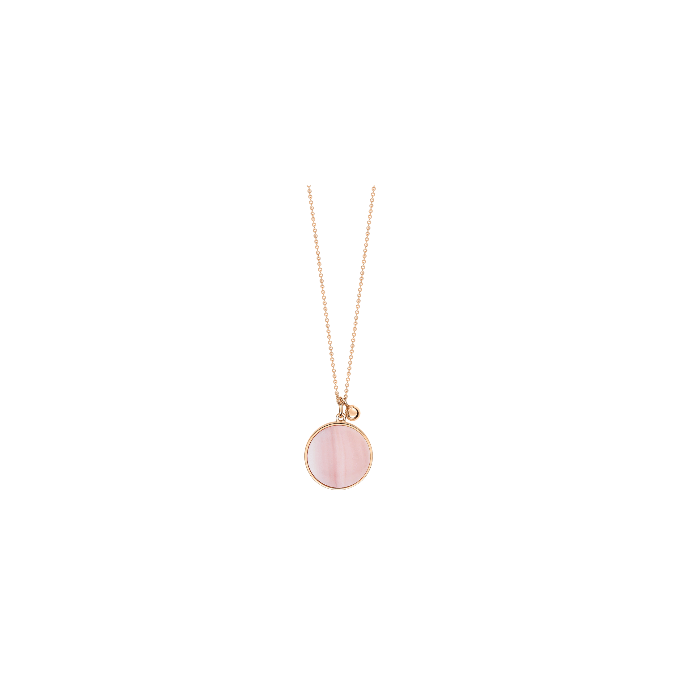 Collier Ginette Ny Ever on chain en or rose et nacre rose