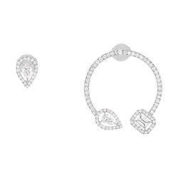 Boucles d'oreilles Messika My Twin en or blanc et diamants