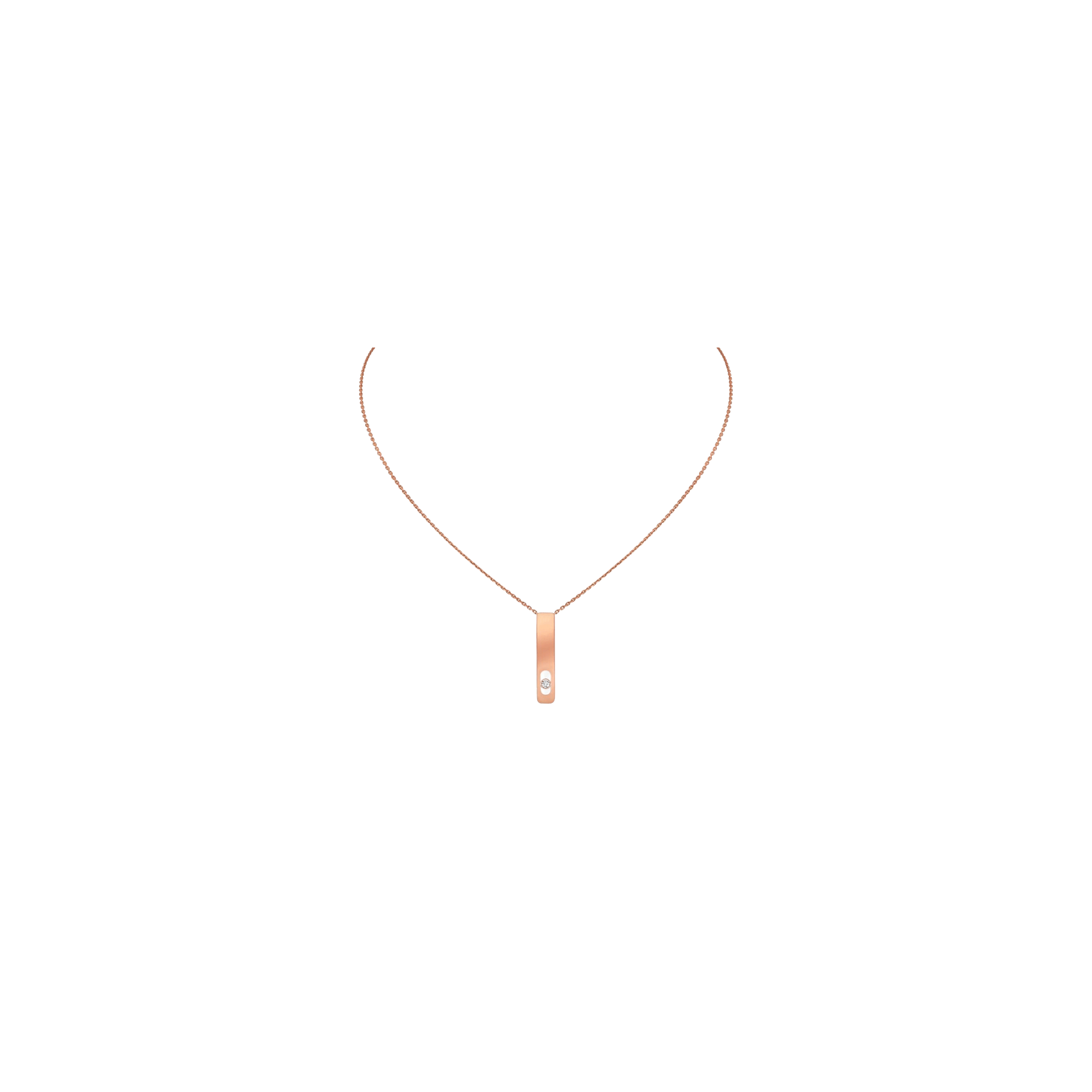 Collier Messika My First Diamond en or rose et diamant