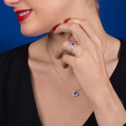 Bague Lepage Capsule en Tanzanite et or blanc