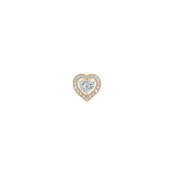 Earring Messika Joy Heart in pink gold and diamonds