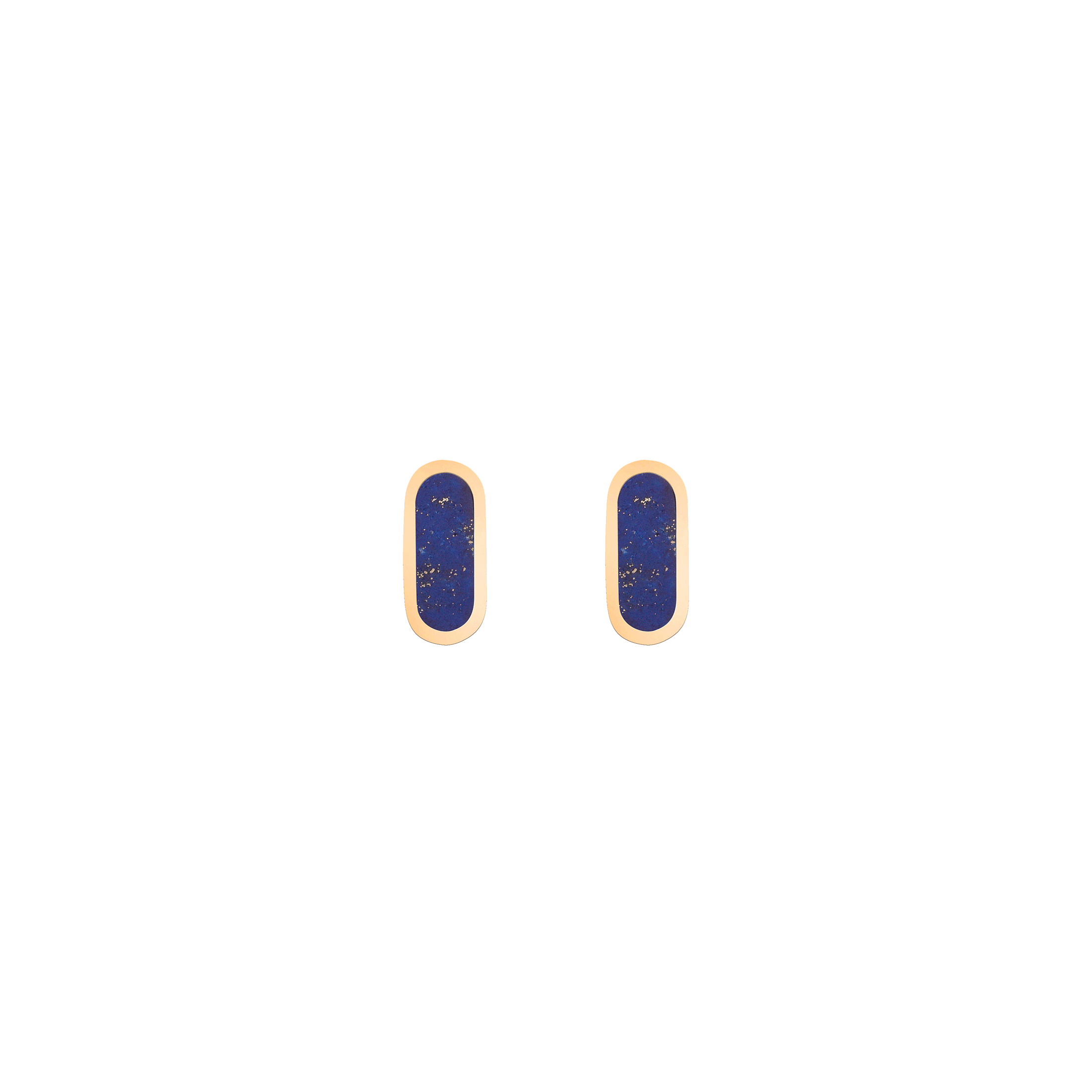 So Shocking Première fois Earrings gold and lapis lazuli