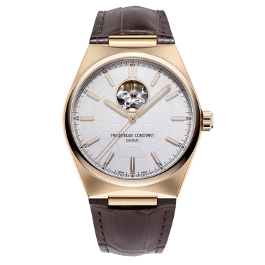 Frédérique Constant Highlife automatic heartbeat watch white dial leather strap 41 mm