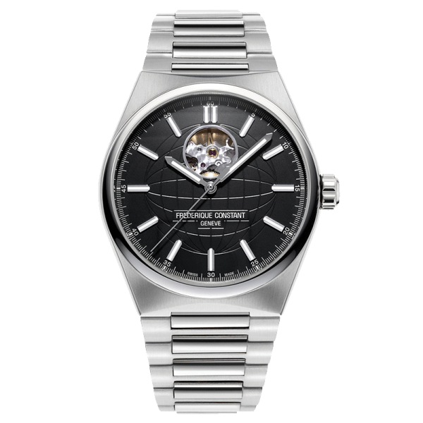 Frédérique Constant Highlife automatic heartbeat watch black dial stainless steel bracelet 41 mm