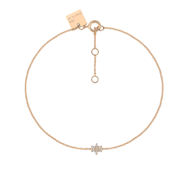 Bracelet Ginette NY Star en or rose et diamants
