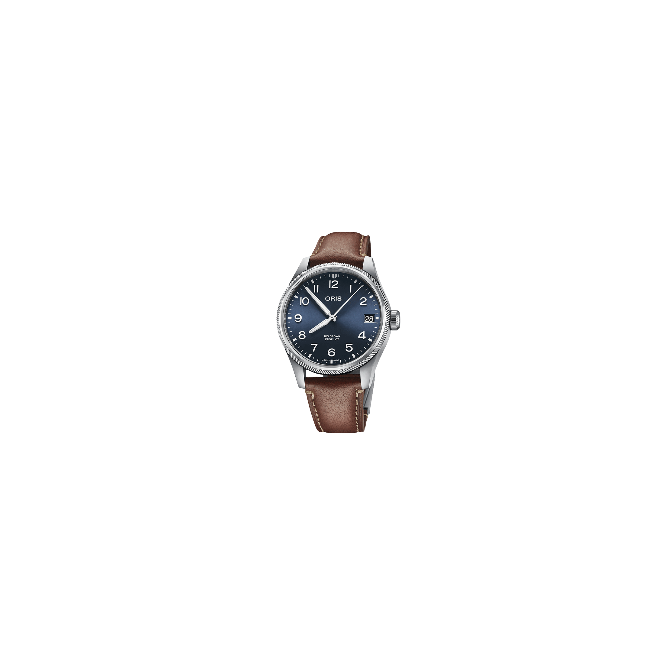 Montre Oris Aviation Big Crown Propilot Big Date automatique cadran bleu bracelet cuir 41 mm