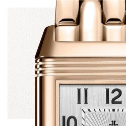 Jaeger LeCoultre Reverso Classic Small Duetto automatic watch silver dial pink gold bracelet