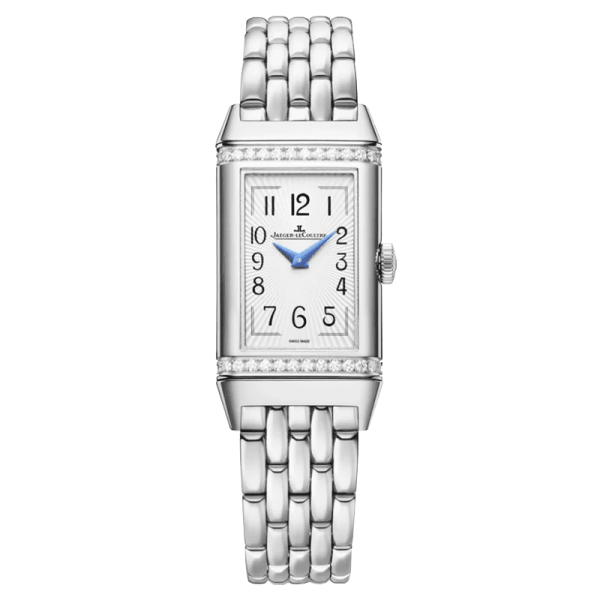 Jaeger LeCoultre Reverso One Duetto automatic watch silver dial steel bracelet