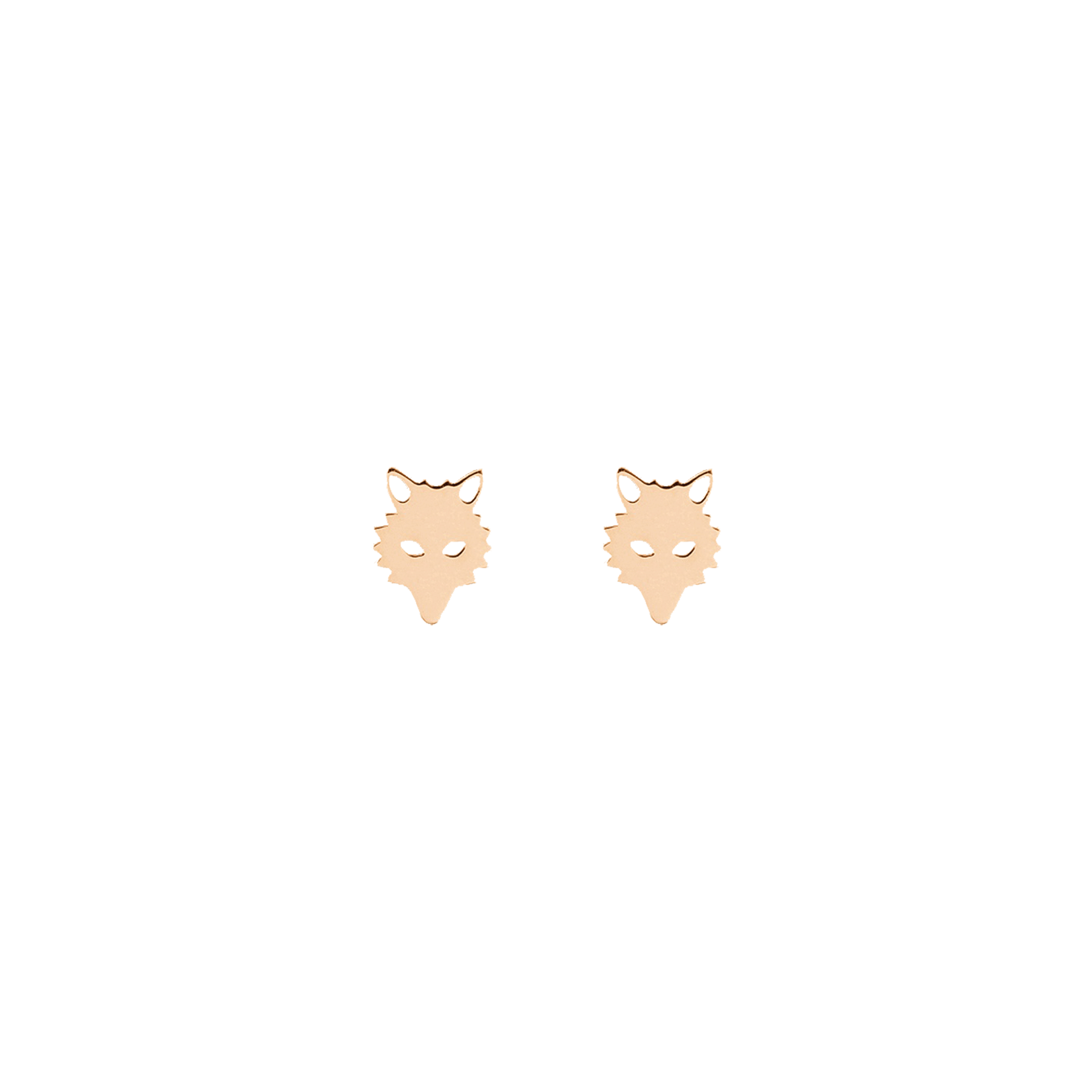 Boucles d'oreilles Ginette NY Wolf or rose