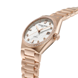 Frédérique Constant Highlife Ladies watch Automatic pink gold bezel set with silver dial Pink gold bracelet 34 mm FC-303VD2NHD4B