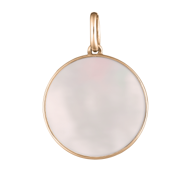 Lepage Colette Lune medal pink gold and pink mother of pearl