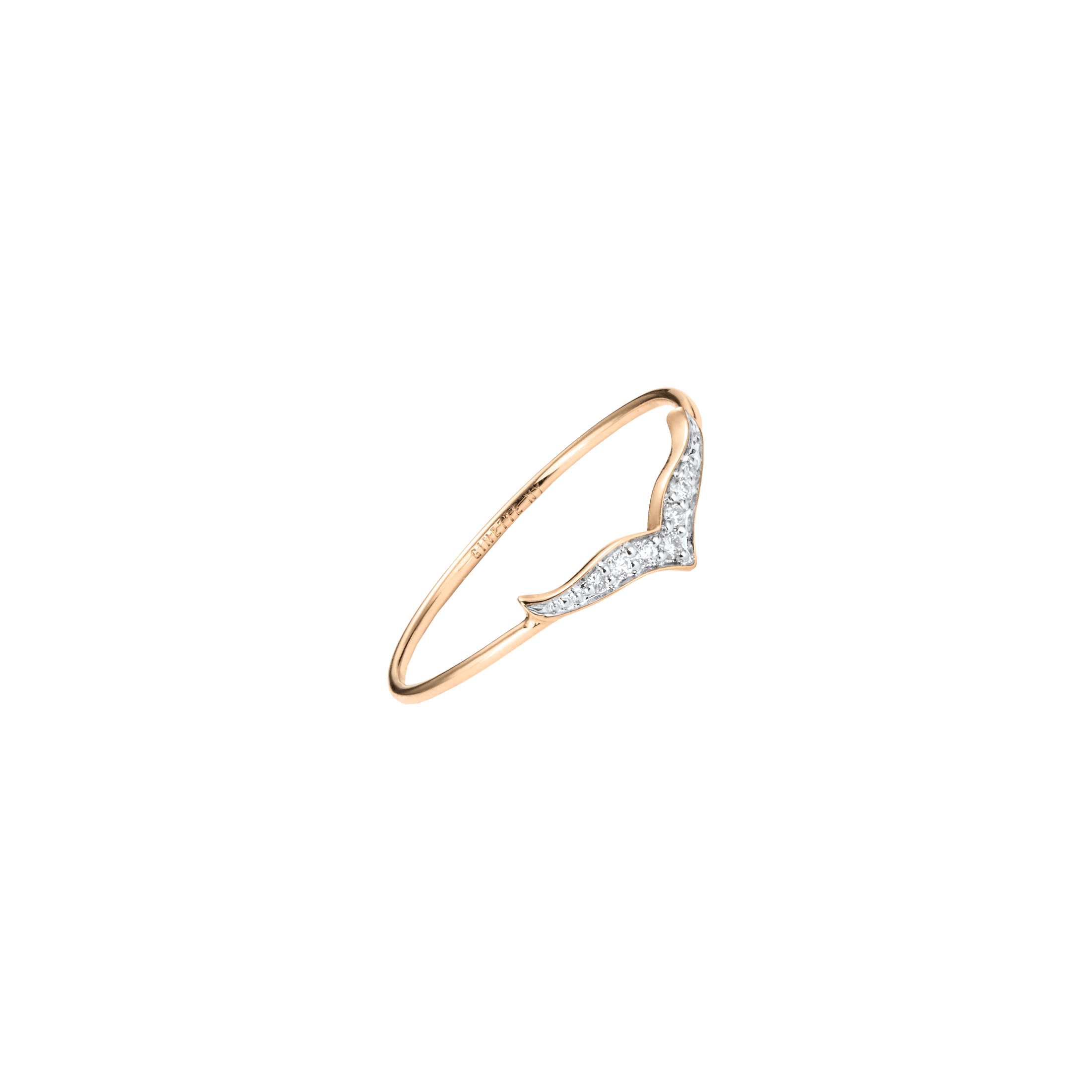 Bague Ginette NY Wise en or rose et diamants