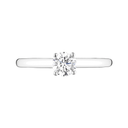 Solitaire Lepage Promesse en or blanc diamant brillant - Top
