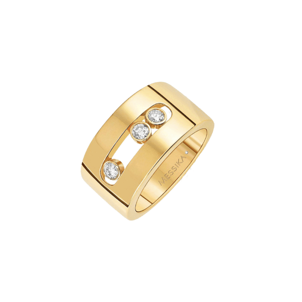 Bague Messika Move Joaillerie M en or jaune et diamants - Soldat