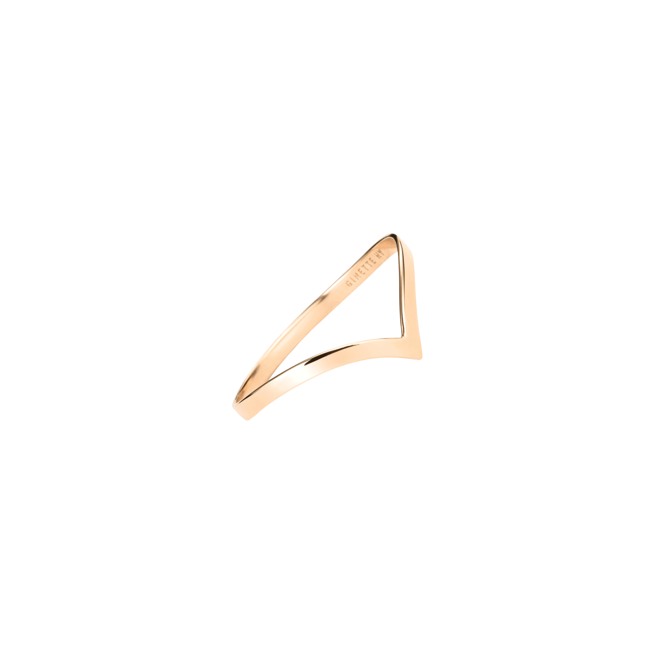 Bague Ginette NY simple Wise en or rose