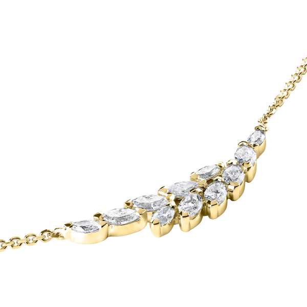 Collier Lepage Suzon en or jaune et diamants