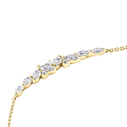 Collier Suzy en or jaune diamants