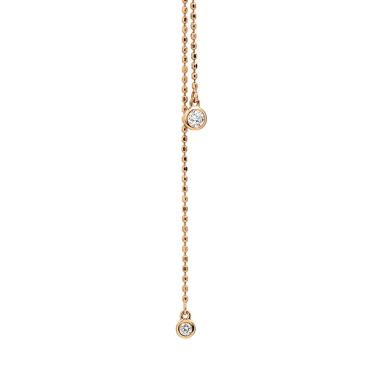Sautoir Ginette NY Lonely Diamonds en or rose