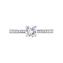 Solitaire Lepage Demoiselle en or blanc diamants