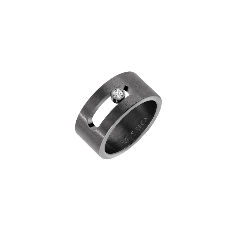 Bague Messika Move Titanium graphite diamant