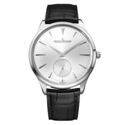 Montre Jaeger-LeCoultre Master Ultra Thin Small Second automatique cadran argent bracelet cuir d'alligator 38,5 mm